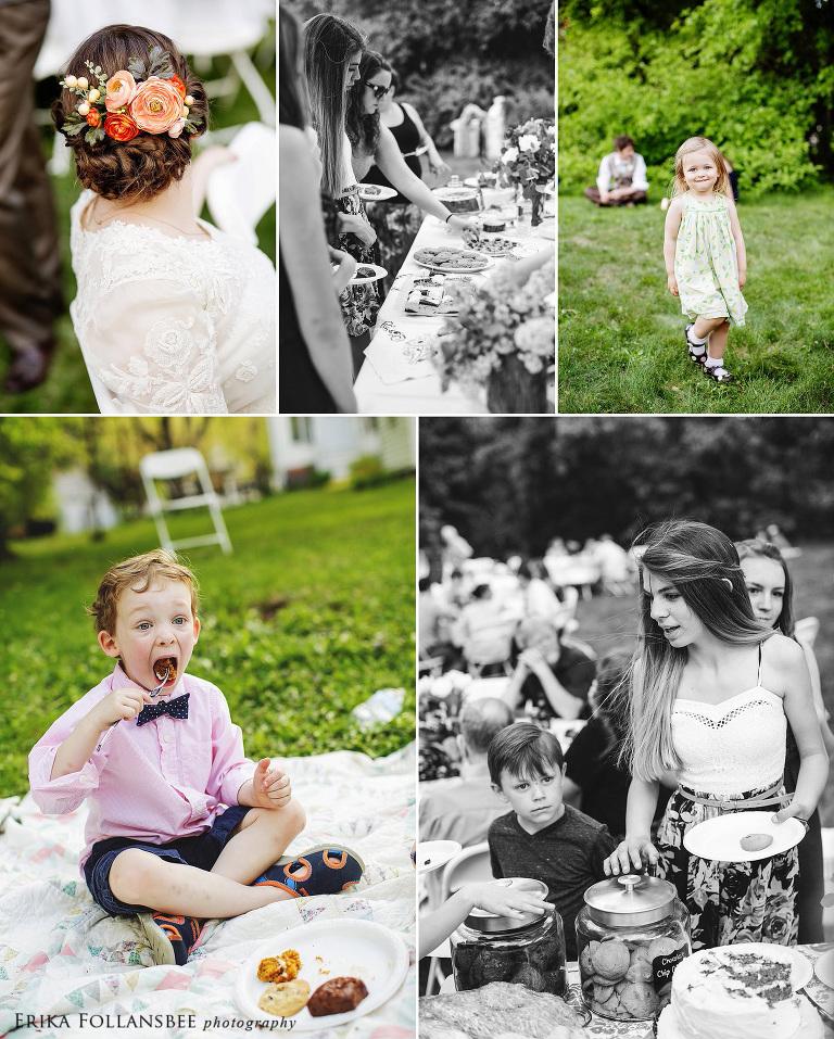 NH vintage backyard wedding