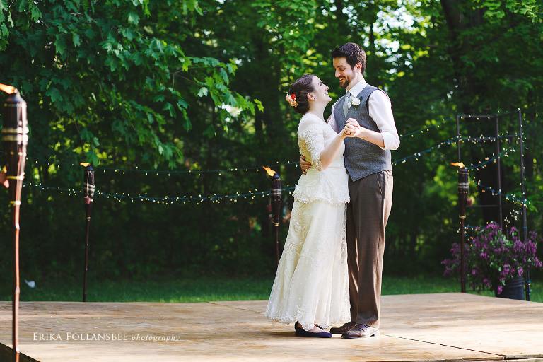 dover nh backyard wedding dance