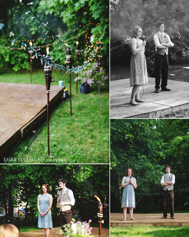 new hampshire vintage backyard wedding reception