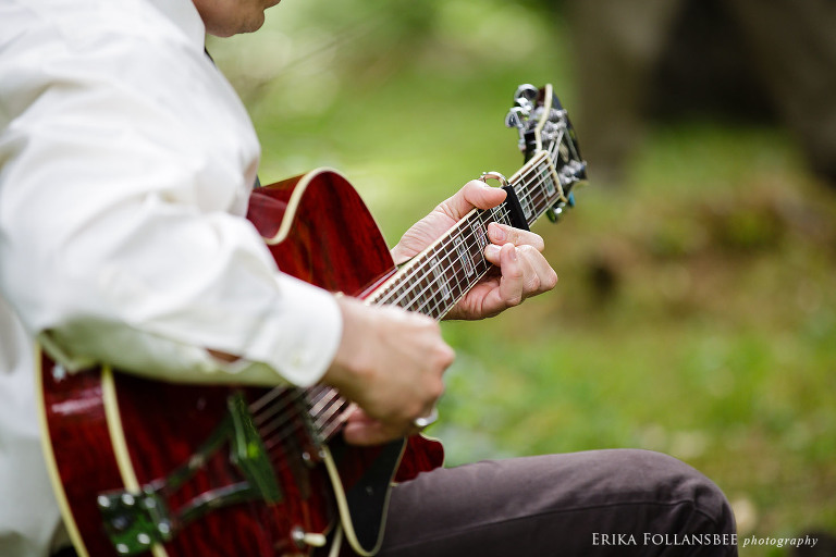 guitar player at ceremony