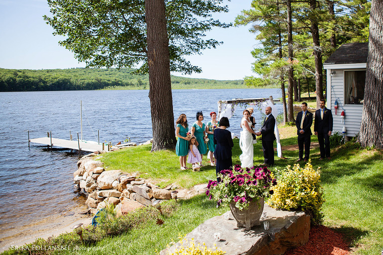 dunbarton NH backyard camp wedding