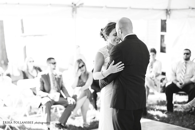 dunbarton NH backyard wedding first dance