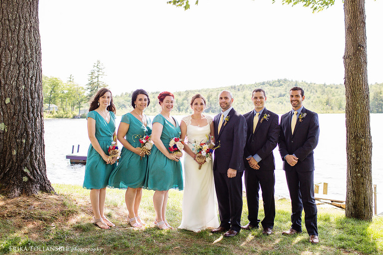 gorham pond wedding photo
