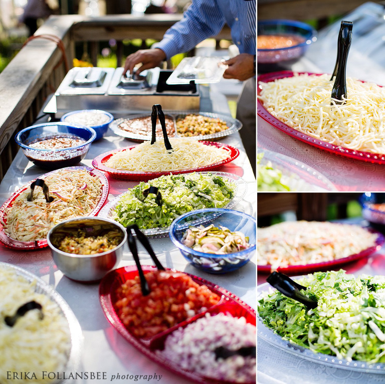 backyard wedding taco bar