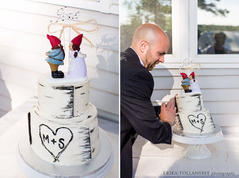 dunbarton NH backyard wedding cake