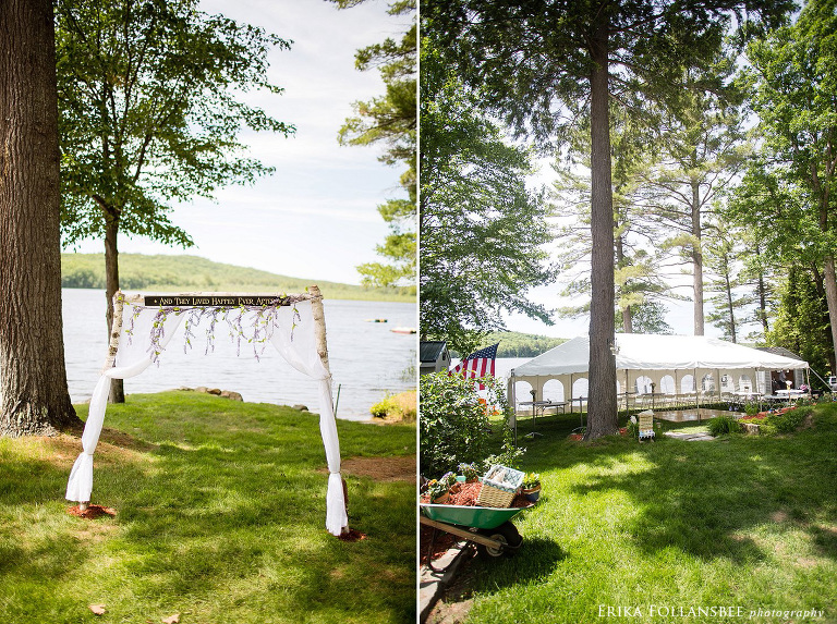 dunbarton NH backyard wedding