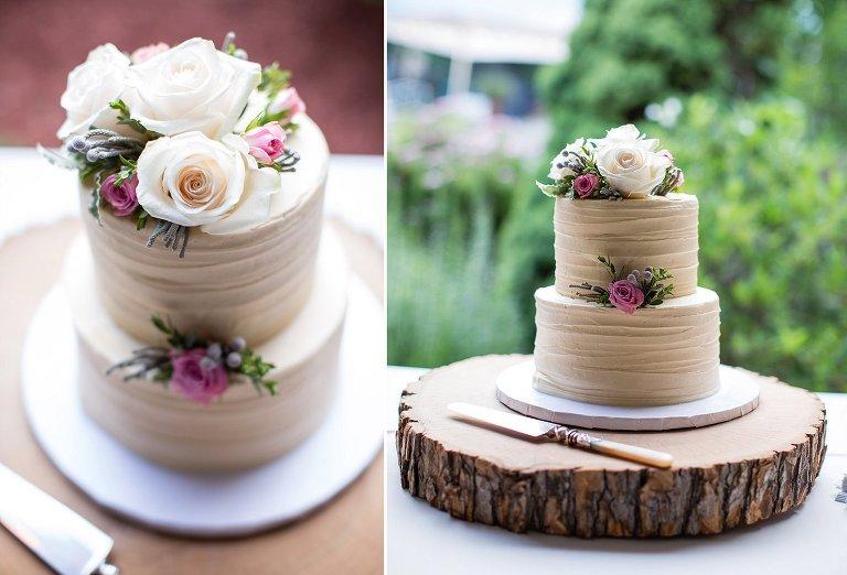 NH rustic backyard wedding Frederick's cake (3)