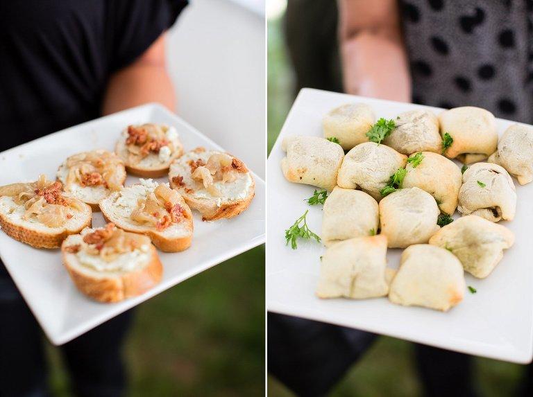 NH tented wedding reception food (1)