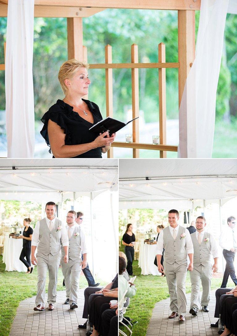 NH backyard wedding ceremony nashua