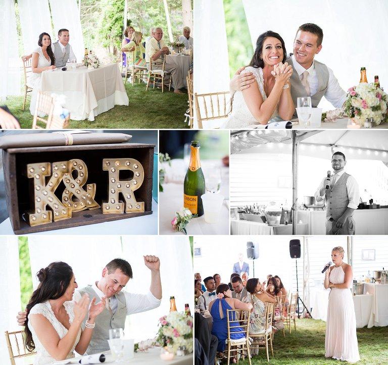 NH backyard wedding speeches toasts