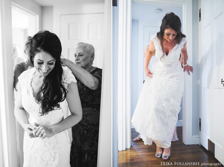 nashua NH bride getting ready