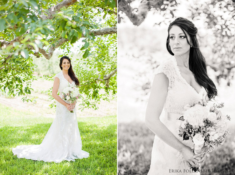 bridal portrait at lull farm hollis
