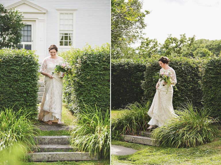 hamilton house maine wedding ceremony garden