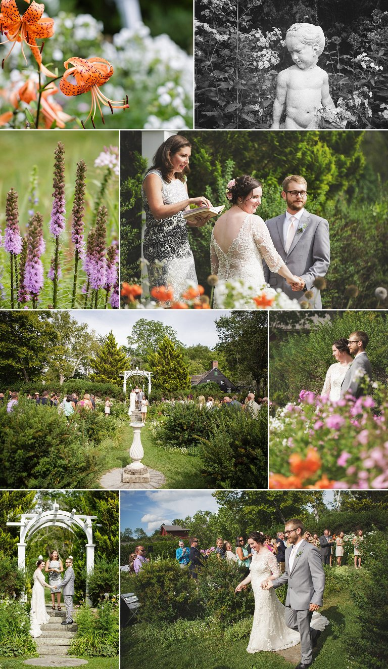 hamilton house garden wedding ceremony