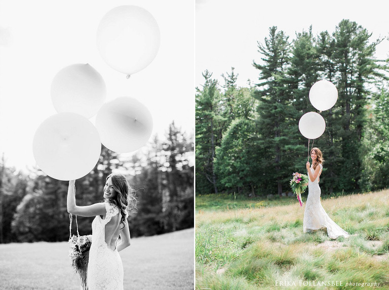 bride with large whimsical balloons