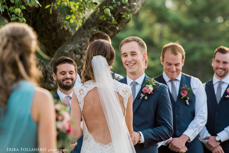 NH backyard wedding ceremony photo