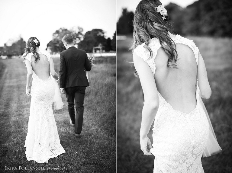New Hampshire wedding | Bride and Groom in a field