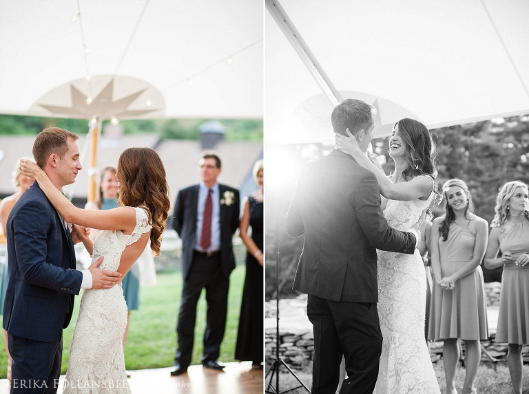 bride and groom's first dance | NH Wedding photography