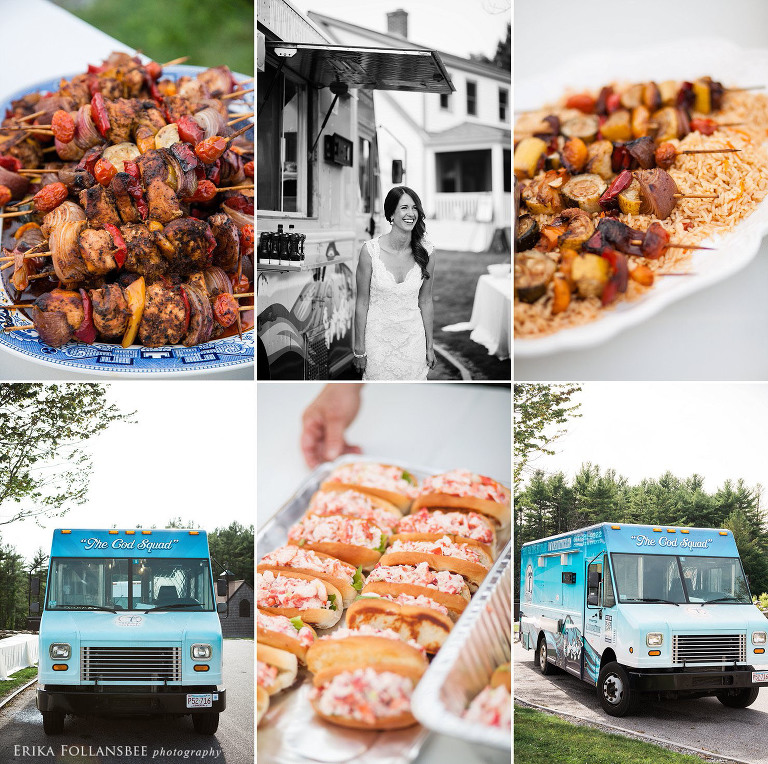 NH Wedding reception dinner catered by The Cod Squad food truck | seafood & lobster rolls