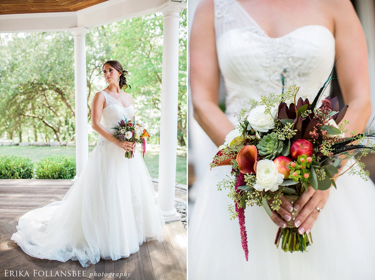 bridal portrait with bouquet by flourish