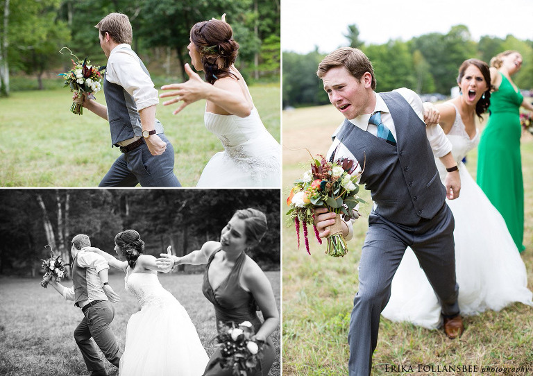 funny sibling wedding picture