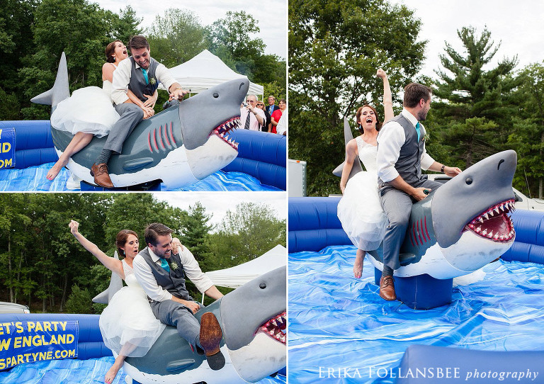 wedding mechanical shark ride