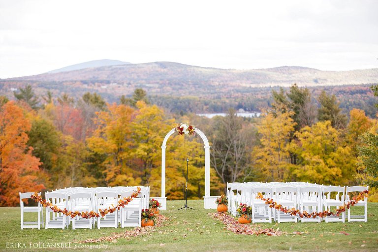 Fall Foliage October Wedding at Dexter's Inn, Sunapee NH