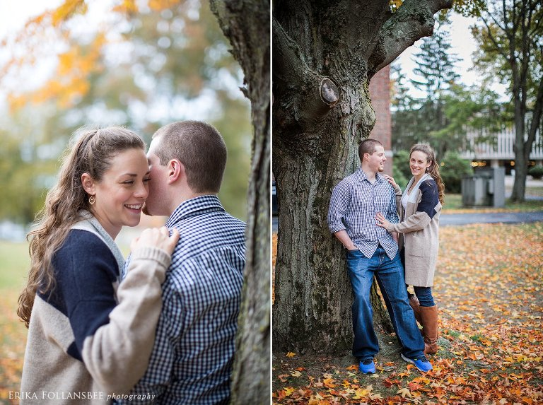 Merrimack College Engagment Photos | NH Wedding Photographer