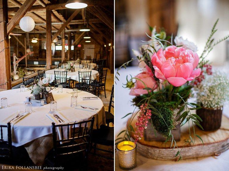 tumbledown farm rustic NH wedding | Lotus Floral Design