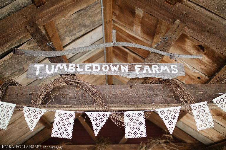 tumbledown farm rustic NH wedding