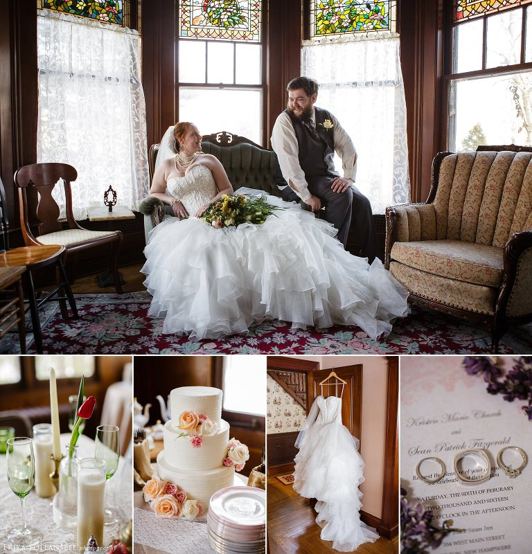 Black Swan Inn Vintage Wedding NH
