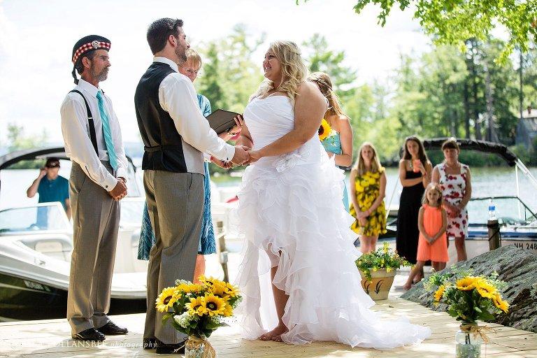 bear island winnipesaukee outdoor wedding