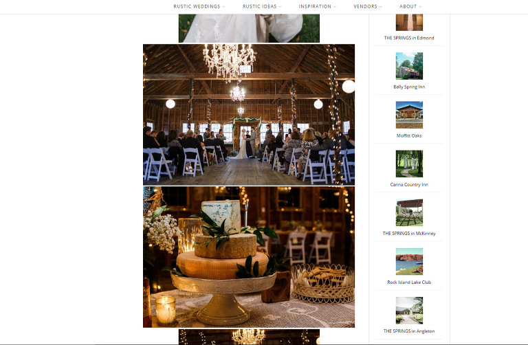 Featured on Rustic Wedding Chic