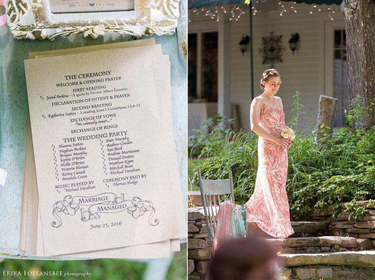 The Quechee Inn wedding ceremony