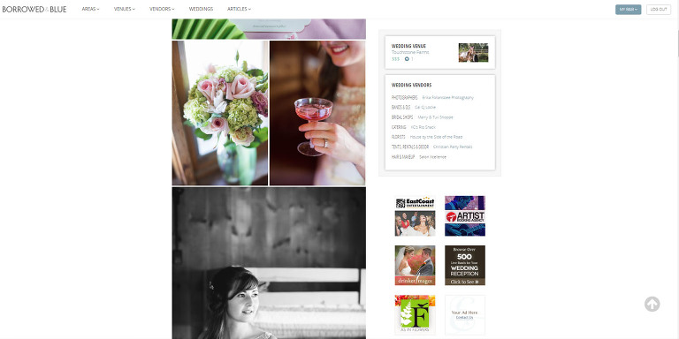 Erika Follansbee Photography featured on Borrowed and Blue