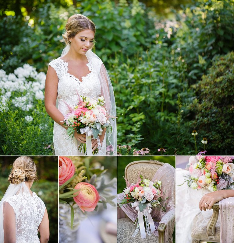 Styled Shoot for Lakes Region Bride magazine at Kirkwood Gardens NH