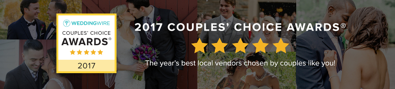 Erika Follansbee WeddingWire Couples' Choice Award 2017