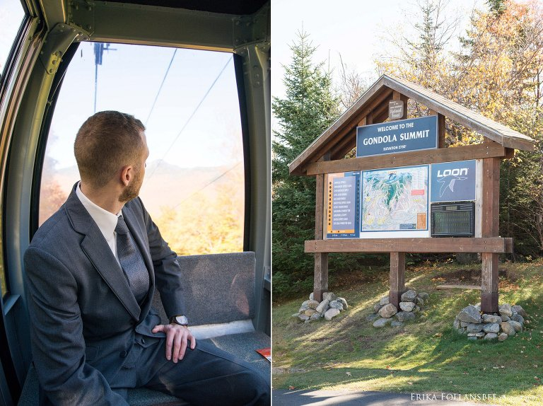 Groom takes the gondola up Loon Mt for first look