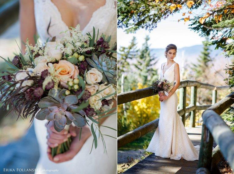 Bridal portraits at Loon Mt. | La Flora Couture
