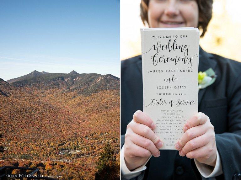 Loon Mt. Wedding summit ceremony view