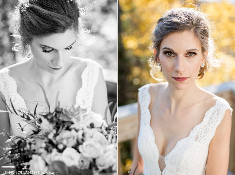 Natural light portrait of bride at Loon Mt. Resort