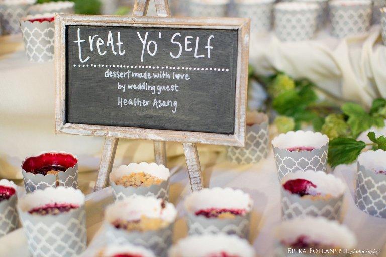 Wedding desserts at Loon Mt. Resort wedding reception