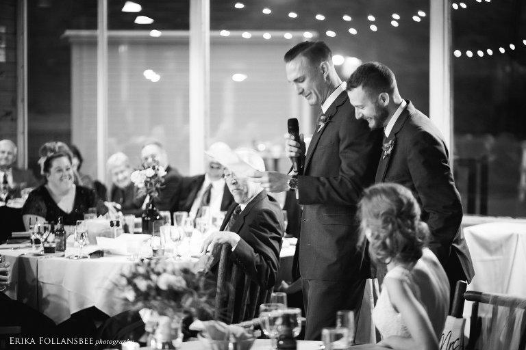 Toasts | Loon Mt. Wedding | Erika Follansbee Photography