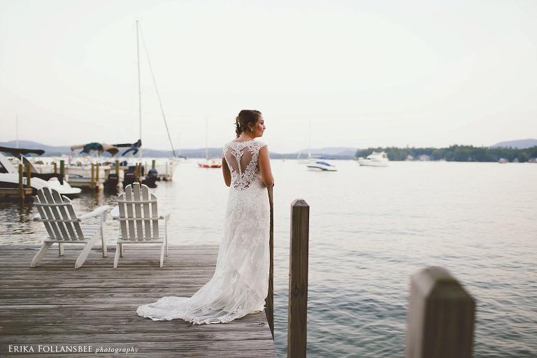 Wolfeboro Inn Wedding Bride On Dock